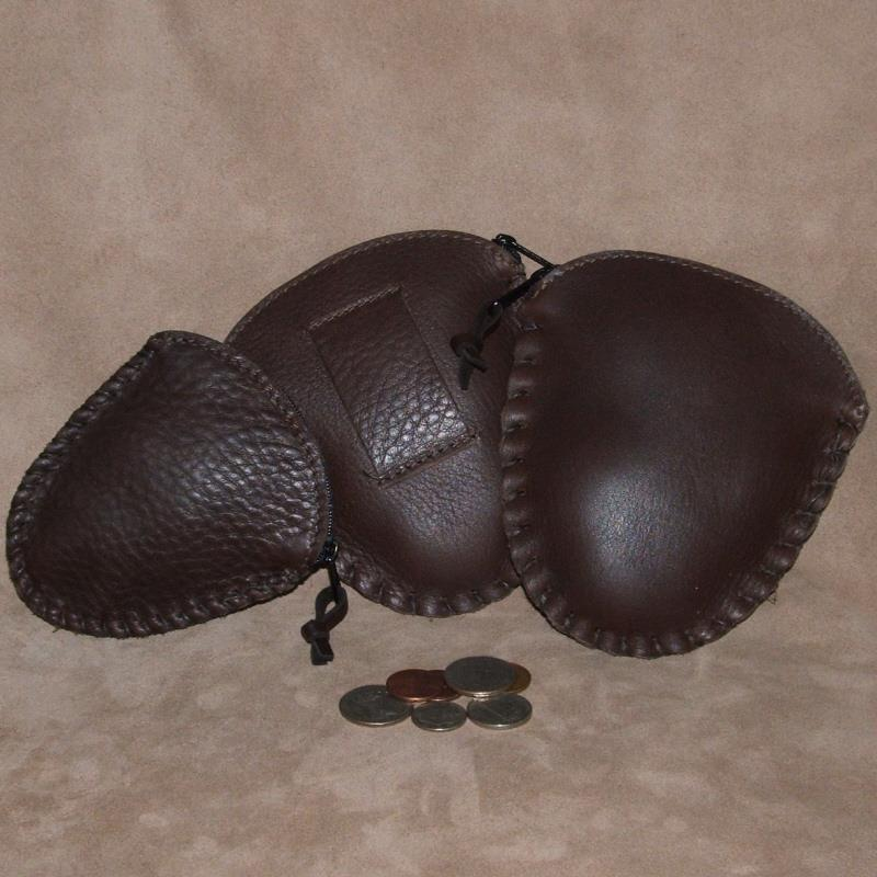 Small & Large Brown Cowhide (left to right)